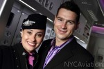 Lisa the Flight Service Coordinator with Jaheb the In-Flight Concierge